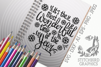 Its the most wonderful time of the year SVG, Silhouette
