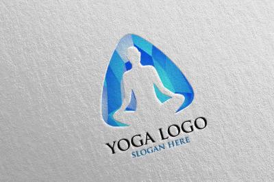 Yoga and Spa Lotus Flower logo 36