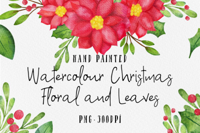 Christmas Watercolor Floral Set