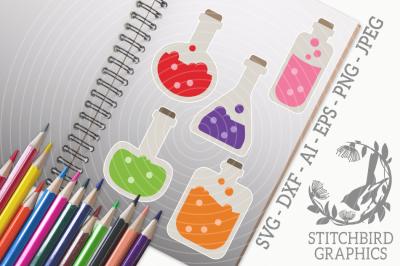 Potions Bundle SVG, Silhouette Studio, Cricut, Eps, Dxf, Ai