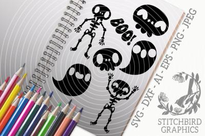 Halloween Silhouettes Undead SVG, Silhouette Studio, Cricut