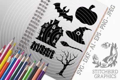 Halloween Icons SVG, Silhouette Studio, Cricut, Eps, Dxf, Ai