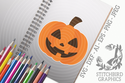 Halloween Pumpkin SVG, Silhouette Studio, Cricut, Eps, Dxf, AI, PNG