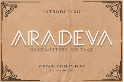 Aradeva Vintage Display Font