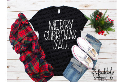 Merry Christmas Y'all SVG {Hand Lettered}