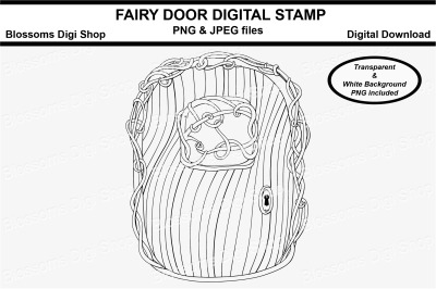 Fairy Door Digital Stamp
