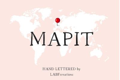 MapIT Serif font. Minimalist.