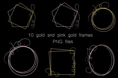 Pink-Gold frames