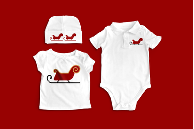 Santa's Sleigh | SVG | PNG | DXF
