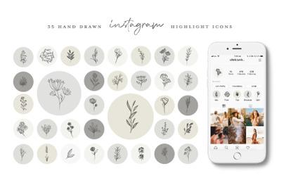 Botanical Instagram Highlight icons