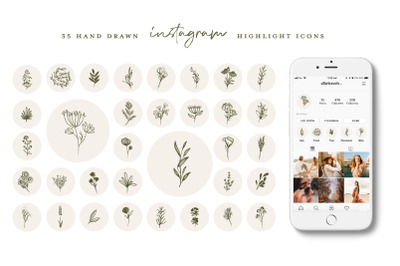 Botanical Instagram Highlight icons