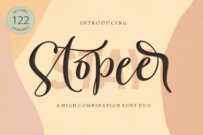 Stay Stopeer | Font Duo
