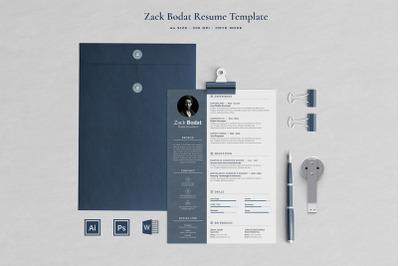 Zack Resume Template