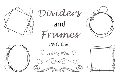 Dividers and frames