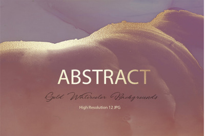 Abstract Gold Watercolor Backgrounds
