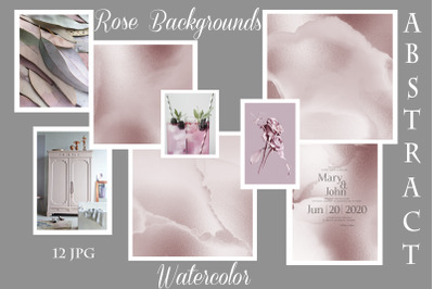 Rose Watercolor Backgrounds