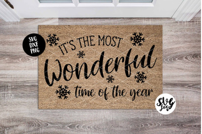 It's The Most Wonderful Time of the Year - Christmas Doormat/ Welcome