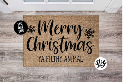 Merry Christmas Ya Filthy Animal Christmas Welcome Mat/Doormat