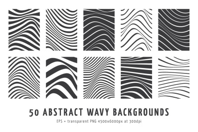 50 Abstract Wavy Vector Backgrounds