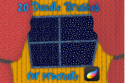 Doodle Pattern brushes  for Procreate, Doodle Texture brushes