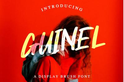 Guinel Handbrush Display Font