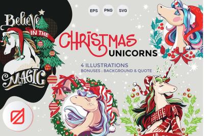 Christmas Unicorn set