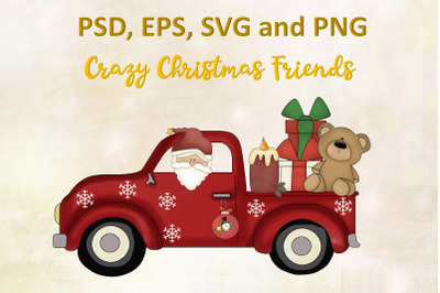 Christmas Clipart & Colouring pages  SVG PNG EPS and PSD