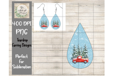 Teardrop Earring Design, Perfect for Sublimation
