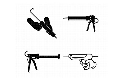 caulk gun, caulking adhesive svg, dxf, vector, eps, clipart, cricut