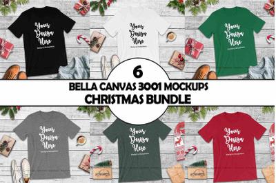 Bella Canvas 3001 Christmas Tshirt Mockup Bundle