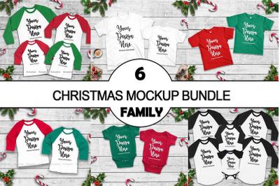 Christmas Matching Family Tshirt Mockup Bundle, Mommy and Me