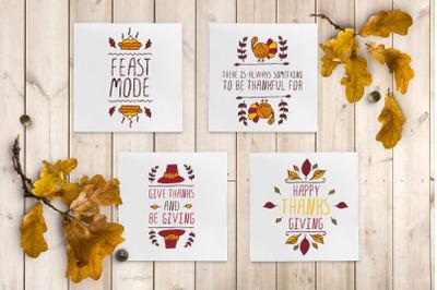 4 Thanksgiving greeting cards