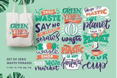 Lettreing set of Zero Waste