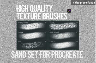 Procreate texture brushes. Sand