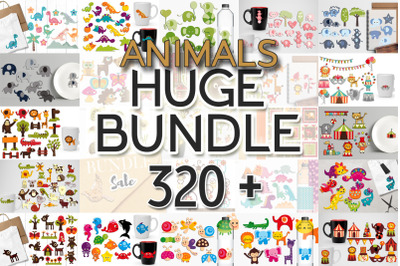 Huge Bundle Animals Illustrations