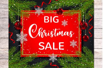 Seasonal Christmas Sale Background