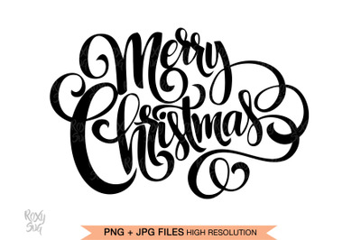 Merry Christmas SVG files for Cricut, Merry Christmas hand lettered
