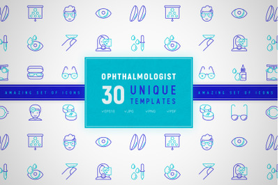 Ophthalmologist Icons Set | Concept