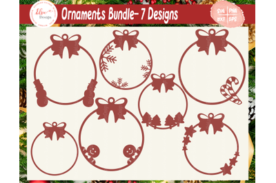 Christmas Ornaments SVG Bundle