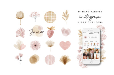 Watercolor Instagram Highlight Icons