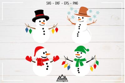 Winter Snowman Packs Svg Design