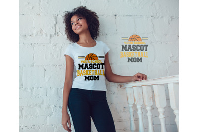 Basketball Mom Mascot SVG, DXF, EPS, and PNG Files for Cutting Machine