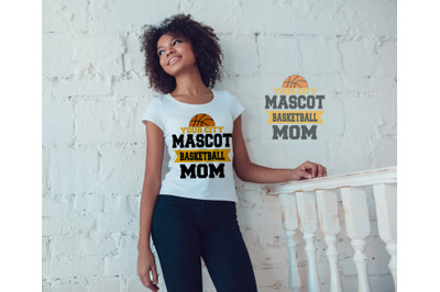 Basketball Mom Mascot SVG, DXF, EPS, and Jpg Files for Cutting Ma