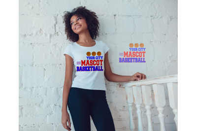 Basketball Mascot SVG, DXF, EPS, and Jpg Files for Cutting Ma