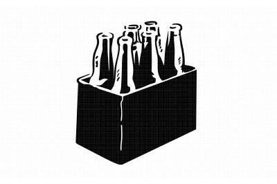 beer bottle six pack holder svg, dxf, vector, eps, clipart, cricut