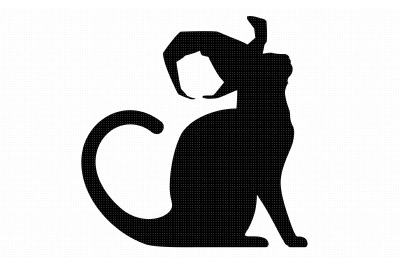 cat with a witch's hat svg, dxf, vector, eps, clipart, cricut