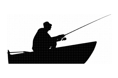 fisherman on a boat svg, dxf, vector, eps, clipart, cricut, download