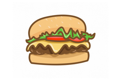 hamburger, cheeseburger svg, dxf, vector, eps, clipart, cricut