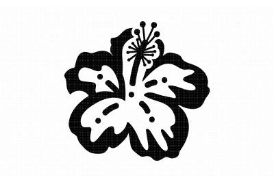 hibiscus flower svg, dxf, vector, eps, clipart, cricut, download