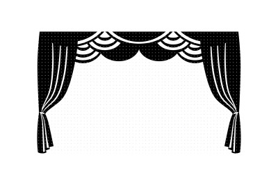 stage curtain svg, dxf, vector, eps, clipart, cricut, download